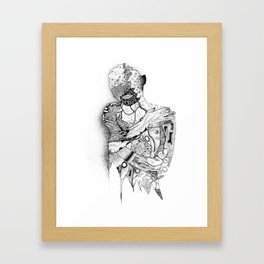 Inside a woman, doodle from 1989 Framed Art Print