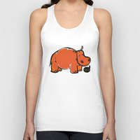 hippo Tank Tops featuring Hippo by ILINDESIGNS