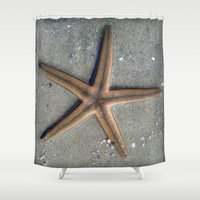 starfish Shower Curtains featuring Starfish by Nichole B.