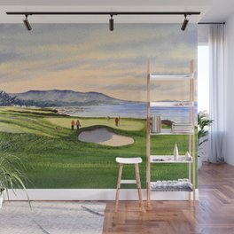Pebble Beach Golf Course 9th Green Wall Mural