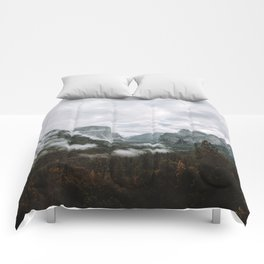 Moody Yosemite Tunnel View Comforters