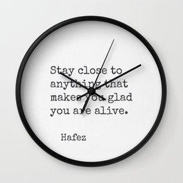 Hafez quote 30 Wall Clock