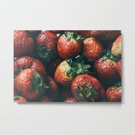 strawberry on Metal Print