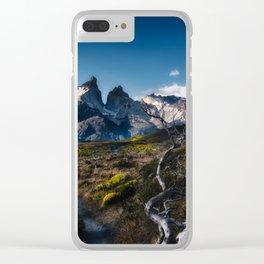Cuernos del Paine Clear iPhone Case