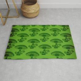 """""""Mushrooms in the Garden"""" Wonderland Style Design by Dark Decors Rug"""