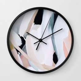 Abstract Brush Strokes, I Wall Clock