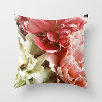 peonies Throw Pillows featuring Peonies by Elliott's Location Photography