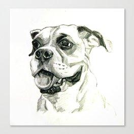 Smiling Boxer Boy Oscar Canvas Print