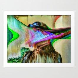 EagleGlitch Art Print