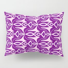 Winged Lavender Purple Wicked Winged Abstract Shapes Spirit Organic Pillow Sham