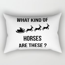 What Kind Of Horses Are These Christmas Fun Rectangular Pillow
