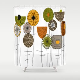 Autumn Blooms Shower Curtain