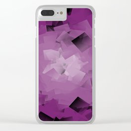 purple tissue Clear iPhone Case