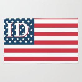 Idaho American Flag Rug