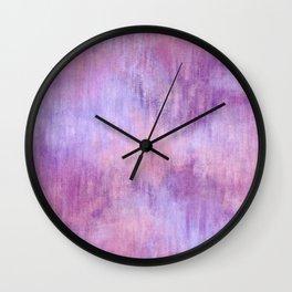 Abstract Pink Purple Wash Wall Clock