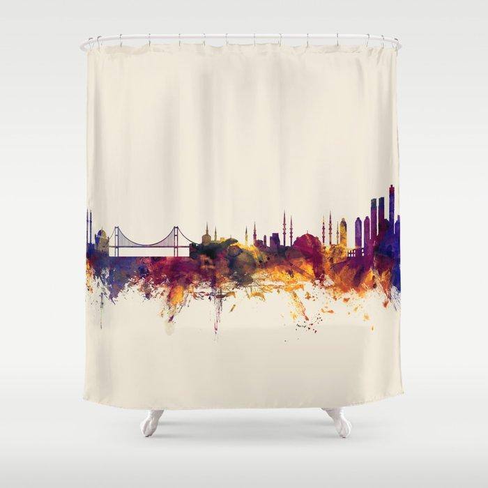 Istanbul Turkey Skyline Shower Curtain