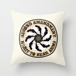 Second Amendment Throw Pillow