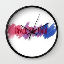 Break The Mold - Bi Pride Wall Clock