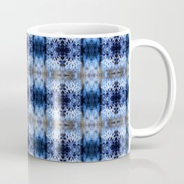 snowflake in blue 8 pattern Coffee Mug