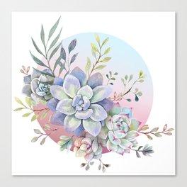 succulent full moon 2 Canvas Print
