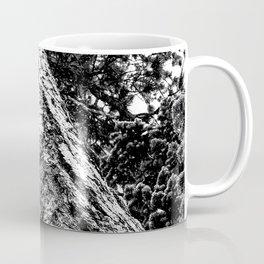Squirrel View // Climbing Tall Tree Trunks // Winter Landscape Snowy Decor Photography Coffee Mug
