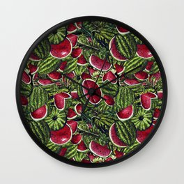 Watermelon Pattern Design Wall Clock