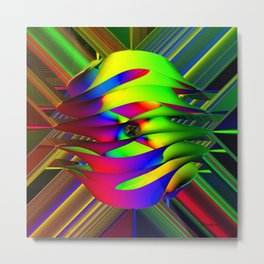Einstein's Rainbow Metal Print