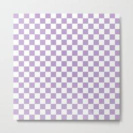 Lavender Checkerboard Pattern Metal Print