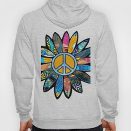Peace Sign Flower Blues Hoody
