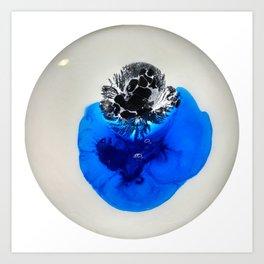 Blue and Black Art Print