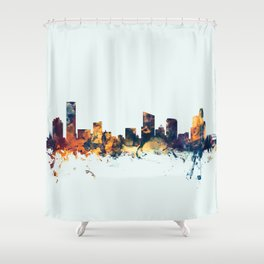 Grand Rapids Michigan Skyline Shower Curtain