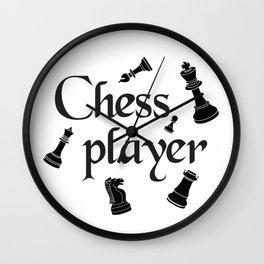 Chess player Wall Clock