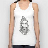 hindu Tank Tops featuring Hindu Deity (Hanuman) by The Artful Yogini