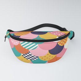 Brightly Colored Mermaid Quilt Fanny Pack