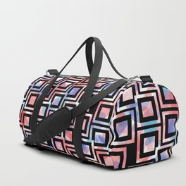 Black and White Squares Pattern 06 Duffle Bag