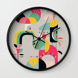 Jungle of elephants Wall Clock