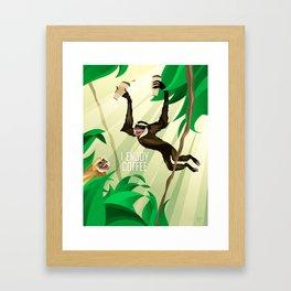 Gibbons Enjoy Coffee Framed Art Print