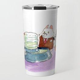Breaking Cat News - The Water Cooler Travel Mug