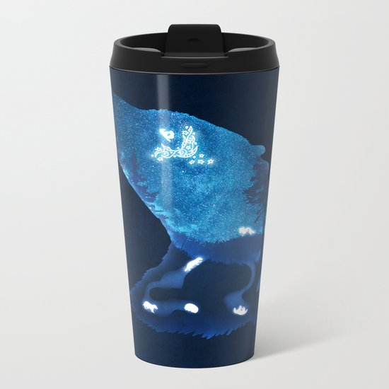 Moon Badgers Metal Travel Mug