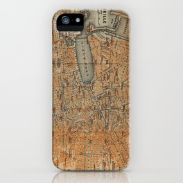 Vintage Map of Marseille France (1914) iPhone Case