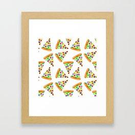 Rainbow Pizzas! Framed Art Print