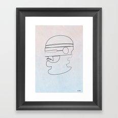 One Line Robocop Framed Art Print