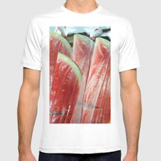 WATER MELON IN PLASTIC BAG MEDIUM White Mens Fitted Tee