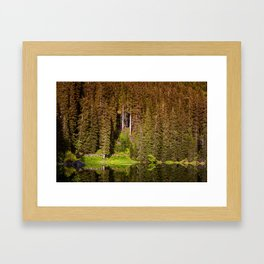 Rainbow Lake (Carezza, Dolomites) Framed Art Print