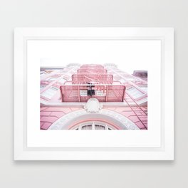 Downtown San Francisco Color Framed Art Print