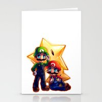 mario bros Stationery Cards featuring Mario Bros. by StephanieIllustrations