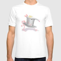 Hat in a Rat Mens Fitted Tee White MEDIUM