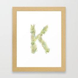 Initial K Framed Art Print