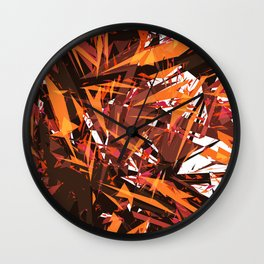 red & spiky Wall Clock