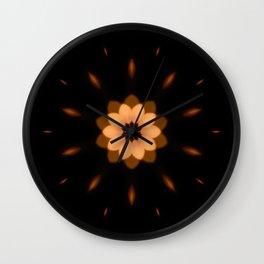 Fall Bronze Flower Wall Clock